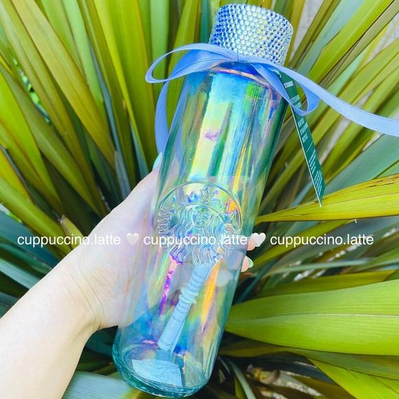 ✨NEW✨Luxury Bling Large Rainbow Glass Water Bottle